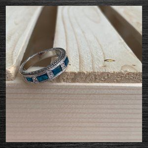 Jewelry - NWT Baguette Simulated Blue Sapphire Ring